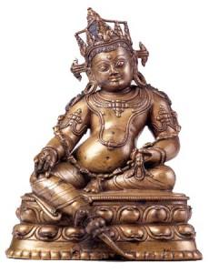 Dzambhala eine buddhistische Figur für Reichtum